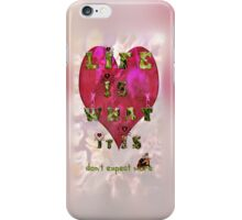 Life is what it is - Love - hearts - typography art iPhone Case/Skin