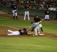 Baseball - Picked Off First Base by Buckwhite