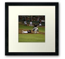 Baseball - Picked Off First Base Framed Print