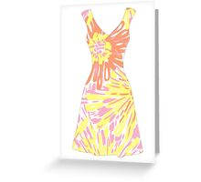 Lilly Pulitzer Inspired Dress Sunkissed Greeting Card