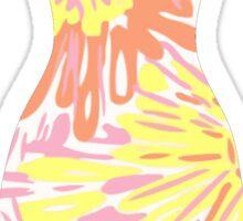 Lilly Pulitzer Inspired Dress Sunkissed Sticker