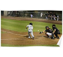 Baseball - A Batter Attempts to Bunt the Ball Poster