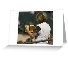 Beer  - The All Time Favorite Baseball Refreshment Greeting Card