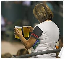 Beer  - The All Time Favorite Baseball Refreshment Poster