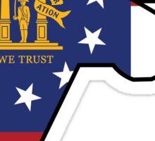 Georgia Flag Design Sticker