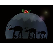 Christmas pud walk Photographic Print