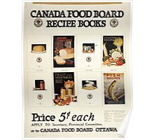 Canada Food Board recipe books Poster
