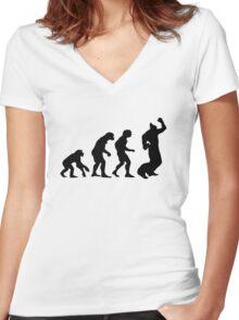EWGF - black on light Women's Fitted V-Neck T-Shirt