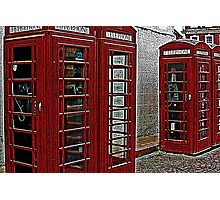 Red retro telephone boxes  Photographic Print