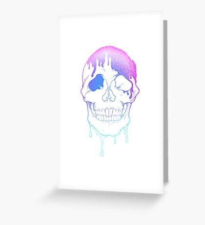 Glamour Skull Greeting Card
