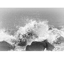 Crashing waves monochrome  Photographic Print