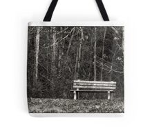 Bench by a Woods Tote Bag
