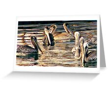 Pelicans of love Greeting Card