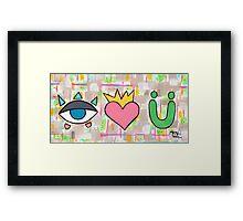 Kiwi Smoothie (ILY) Framed Print
