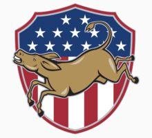 Democrat Donkey Mascot American Flag T-Shirt
