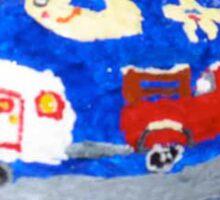 Rock Art, Truck, Trailer And The Moon Sticker