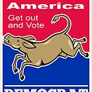 Democrat Donkey Mascot America Vote by patrimonio