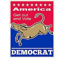 Democrat Donkey Mascot America Vote Photographic Print