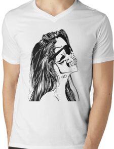 Swag Skull Girl Mens V-Neck T-Shirt