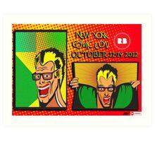 New York Comic Con Entry Art Print