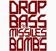 DROP BASS NOT MISSILES AND BOMBS (ROYAL RED) Mens V-Neck T-Shirt