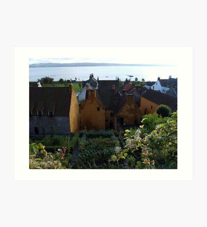 Mary Luke Garden in Culross Art Print