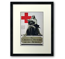 The greatest mother in the world Red Cross Christmas roll call Dec 16 23rd Framed Print