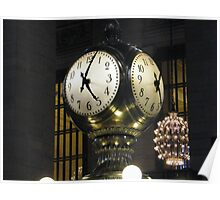 Classic Clock, Grand Central Terminal, New York Poster