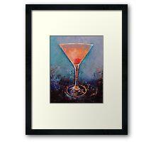 Pink Lemonade Martini Framed Print