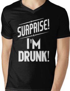 Surprise I'm Drunk Mens V-Neck T-Shirt