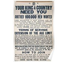 Your king country need you Another 100000 men wanted 062 Poster