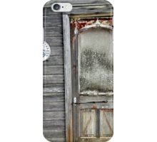 Old Door with Union Workman Tobacco Thermometer iPhone Case/Skin