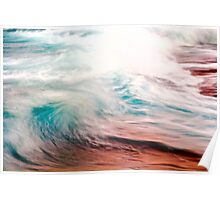 Evening Color on Waves Poster