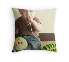Reptilian Avian Anthropoid Throw Pillow