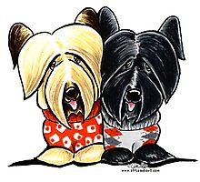 Skye Terriers Sweaters Photographic Print