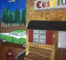 """Central Auto Body""  by Melissa Goza"