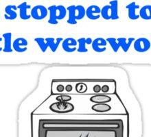 Teen Wolf - Werewolf Oven Sticker Sticker