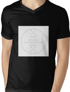 We Are Grounders Logo Mens V-Neck T-Shirt
