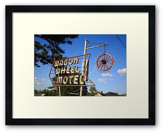 Route 66 - Wagon Wheel Motel by Frank Romeo