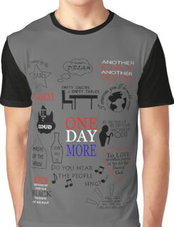 Les Miserables Quotes Graphic T-Shirt