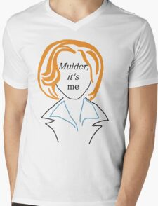 Mulder It's Me (transparent) Mens V-Neck T-Shirt