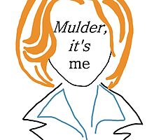 Mulder It's Me (transparent) by katietoolate