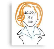 Mulder It's Me (transparent) Metal Print