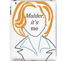 Mulder It's Me (transparent) iPad Case/Skin