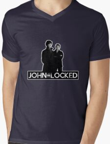 I AM LOCKED: JOHN-LOCKED Mens V-Neck T-Shirt