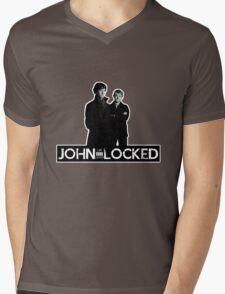 I AM LOCKED: JOHN-LOCKED Mens V-Neck T-Shirt