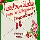 Winning banner for Creative Cards & Calendars  by aldona