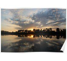 Small Lake At Dawn Poster