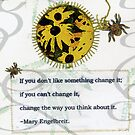 If You Don&#x27;t Like Something .... quote book page by Sandra Foster