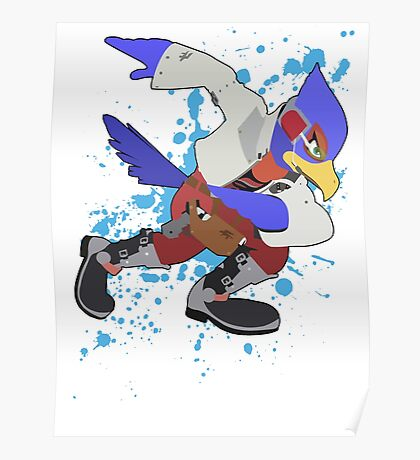 Falco - Super Smash Bros Poster